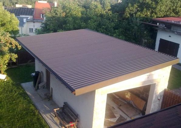 Крыша для гаража односкатная видео